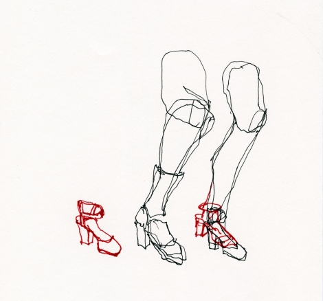 Study of Misc. Legs (Subway) by Anna Schuleit
